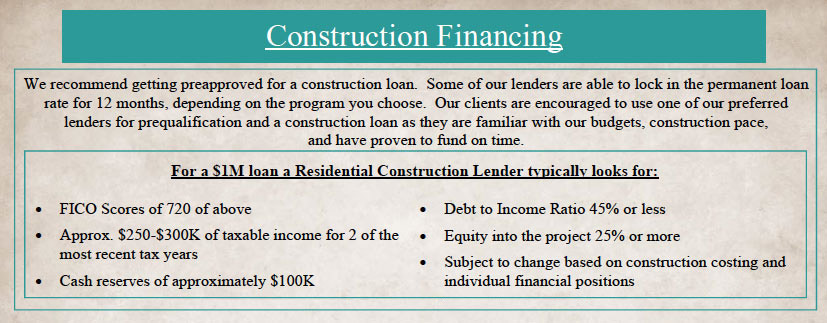 For More Information On Getting Prequalified For A Construction Loan